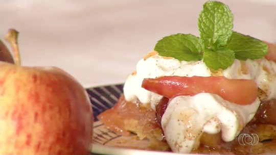 Chef de Luziânia ensina como fazer torta de maçã invertida; veja receita