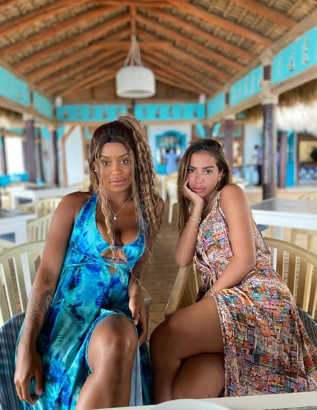 Rebecca e Anitta em Punta Cana (Foto: Reprodução/ Instagram)