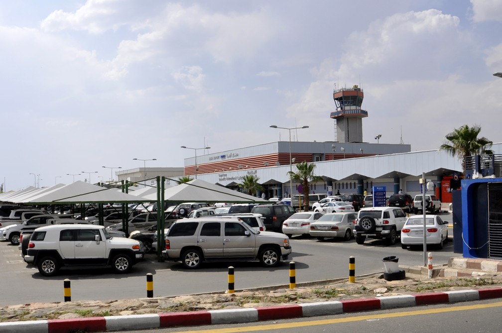 Aeroporto de Abha, na Arábia Saudita. — Foto: AFP