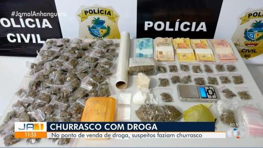 Família é presa suspeita de fazer churrasco para disfarçar tráfico de drogas, em Pontalina