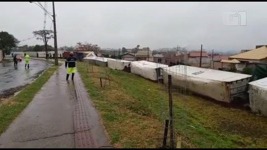 Sete vagões de trem descarrilam em Cambé; ninguém ficou ferido