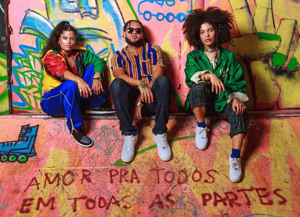 Emicida e Ibeyi — Foto: Bruno Trindade / B+CA / Divulgação