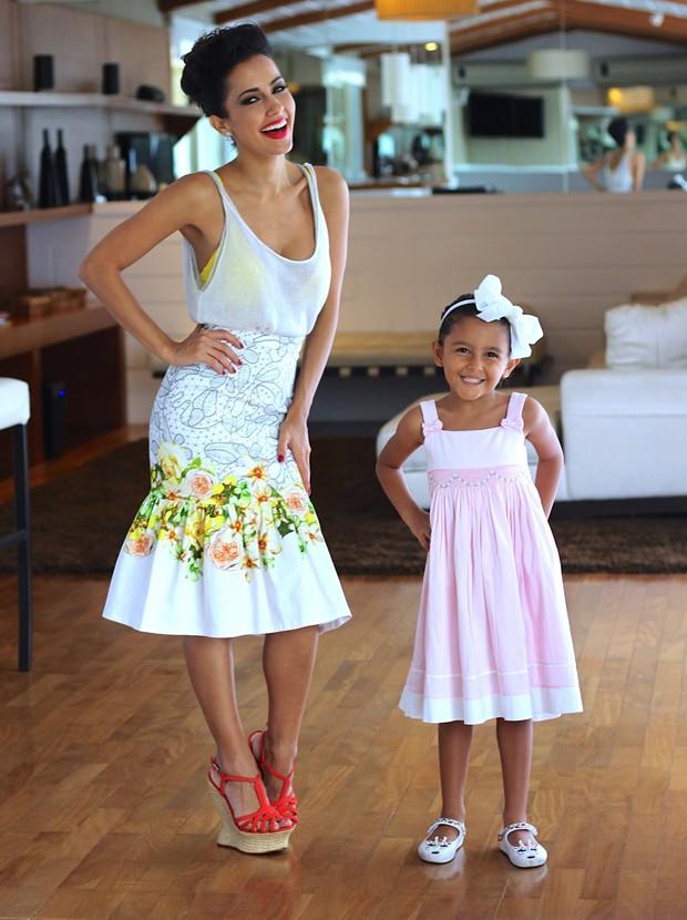 Maytê Piragibe e a filha, Violeta (Foto: Bianca Barbieri)