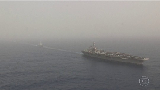 EUA enviam porta-aviões e bombardeiros ao Oriente Médio