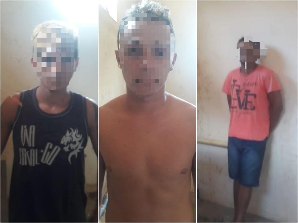 Trio foi preso durante diligências da polícia em Mojuí dos Campos — Foto: Polícia Militar de Mojuí dos Campos/Divulgação