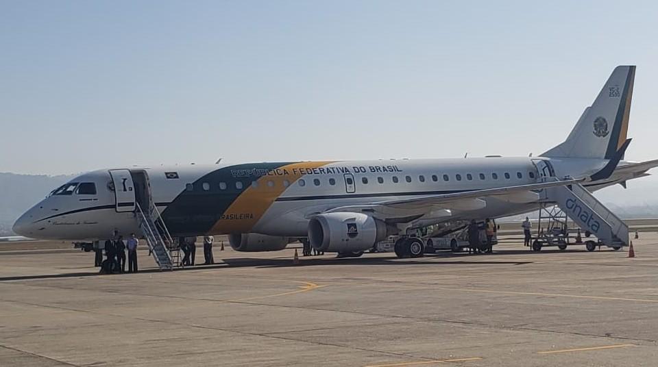 Bolsonaro chega a SP para participar de solenidade de missão de ajuda ao Líbano