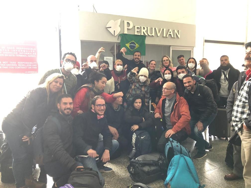 Brasileiros no Peru não conseguem voo de volta ao Brasil e estão 'presos' em aeroporto — Foto: Arquivo pessoal