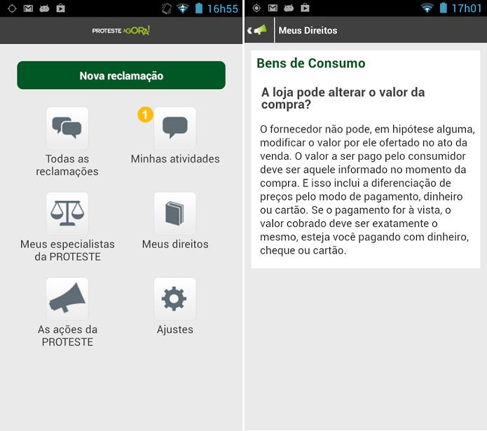 Proteste Agora é um app para fazer registros de queixas de consumo (Foto: Divulgação/Proteste Agora)