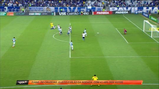 Goleiro Fabio, do Cruzeiro é o vilão da primeira rodada do Brasileirão