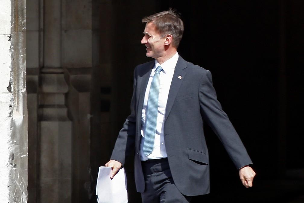 Jeremy Hunt, que vai concorrer a primeiro-ministro em uma eleição só com filiados do Partido Conservador do Reino Unido — Foto: Henry Nicholls/Reuters
