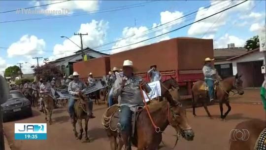 Tropeiros começam a percorrer trilha de quase 160 km no norte do Tocantins