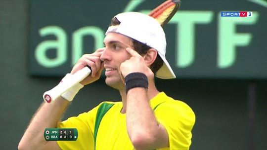 Após gesto racista na Copa Davis, Guilherme Clezar recebe multa da ITF