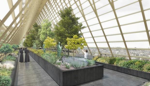 Notre-Dame: escritório de design propõe estufa educativa no telhado (Foto: Reprodução)