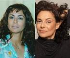 Giovanna Gold na época de 'Por amor' e atualmente | TV Globo- Arquivo pessoal