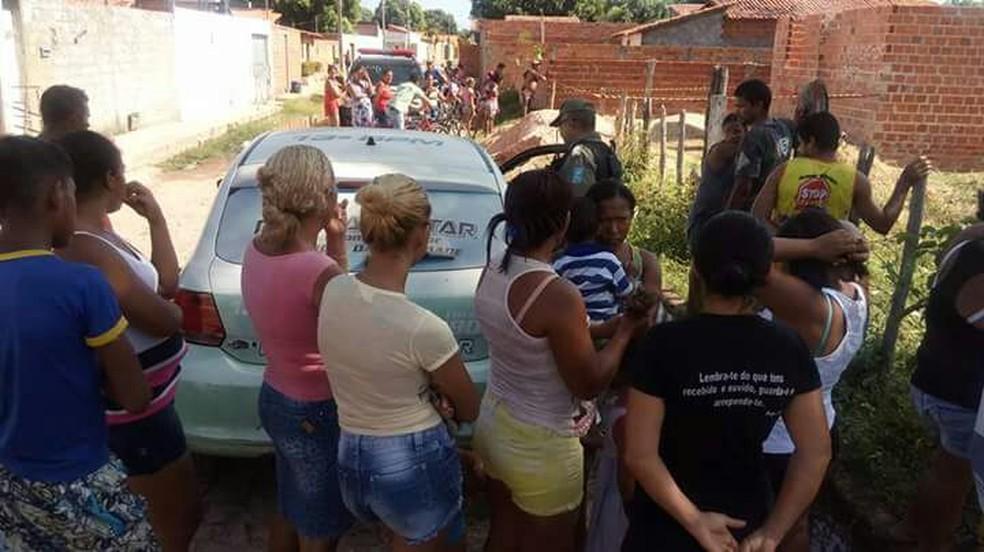 Corpo foi encontrado em uma construção (Foto: Joselito Andrade)