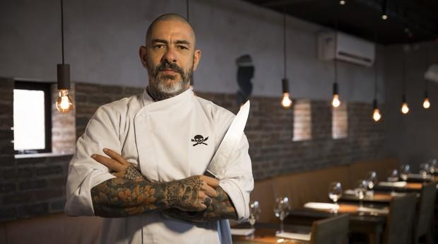 Henrique Fogaça, na unidade do Sal Gastronomia do Higienópolis (Foto: Divulgação)