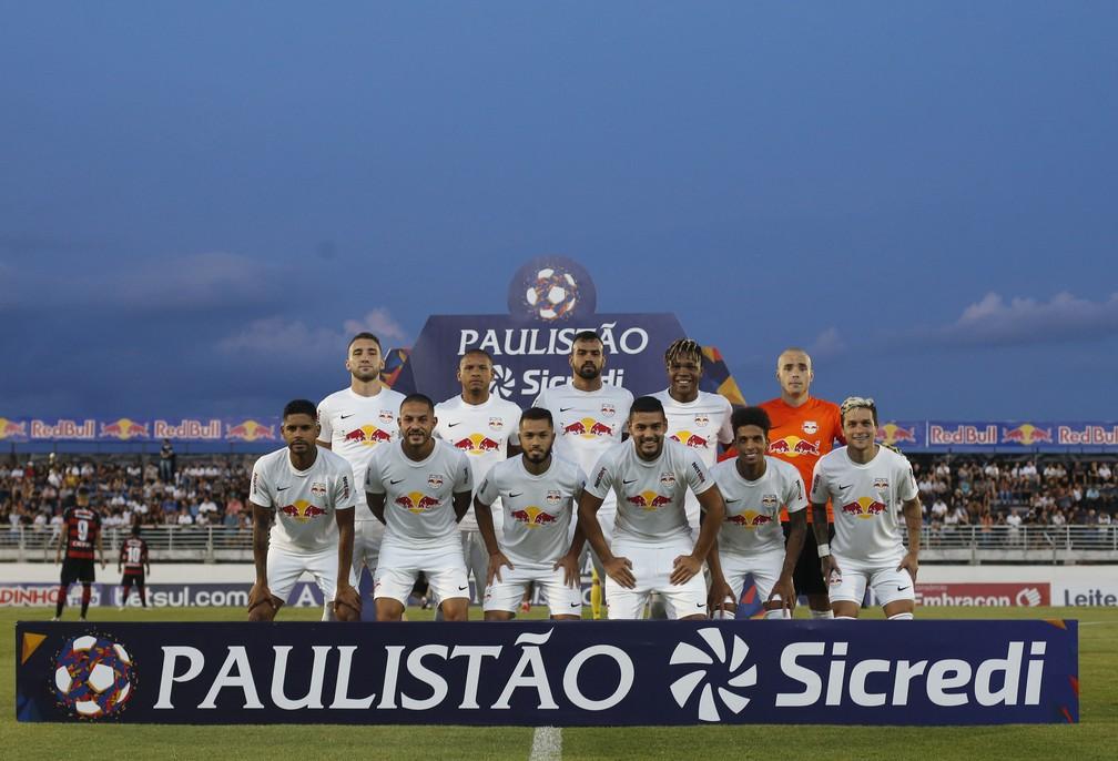 Bragantino garantiu a classificação às quartas de final do Paulista com duas rodadas de antecedência — Foto: Ari Ferreira/Red Bull Bragantino