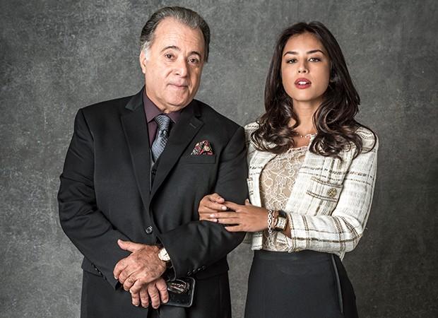 Olavo (Tony Ramos) tenta impedir Laura (Yanna Lavigne) de investigar o passado de Luz (Marina Ruy Barbosa) (Foto: Globo/João Cotta)
