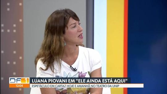 Luana Piovani em cartaz no Teatro da Unip