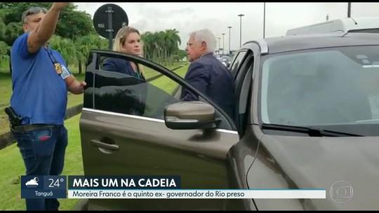 Com a prisão de Moreira Franco já são cinco ex-governadores eleitos do estado presos