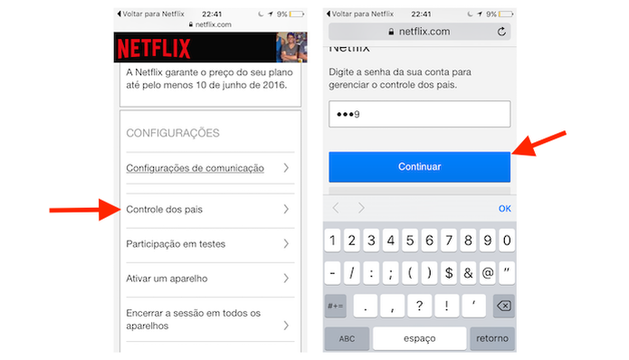 how to change netflix pin