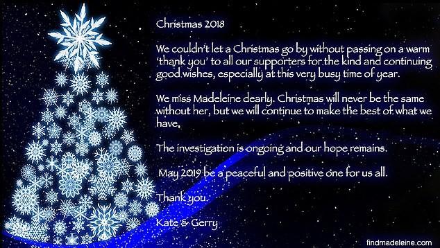 Mensagem de Kate e Gerry (Foto: Divulgação)