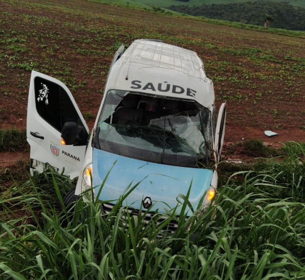 Passageiros retornavam de tratamento em Curitiba para Quatiguá — Foto: PRE/Divulgação