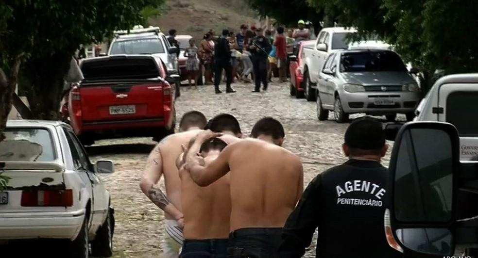 Confronto em presídio com 10 mortes levou à transferência de mais de 40 presos (Foto: TV Verdes Mares/Reprodução)
