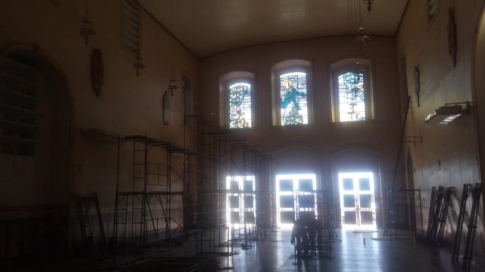 -  Obras de revitalização da catedral de Nossa Sra da Conceição já começaram  Foto: Reprodução/Redes Sociais