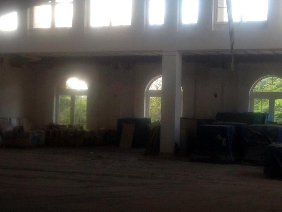 Reforma na Casa Branca está abandonada — Foto: Divulgação/Jornal do Tocantins