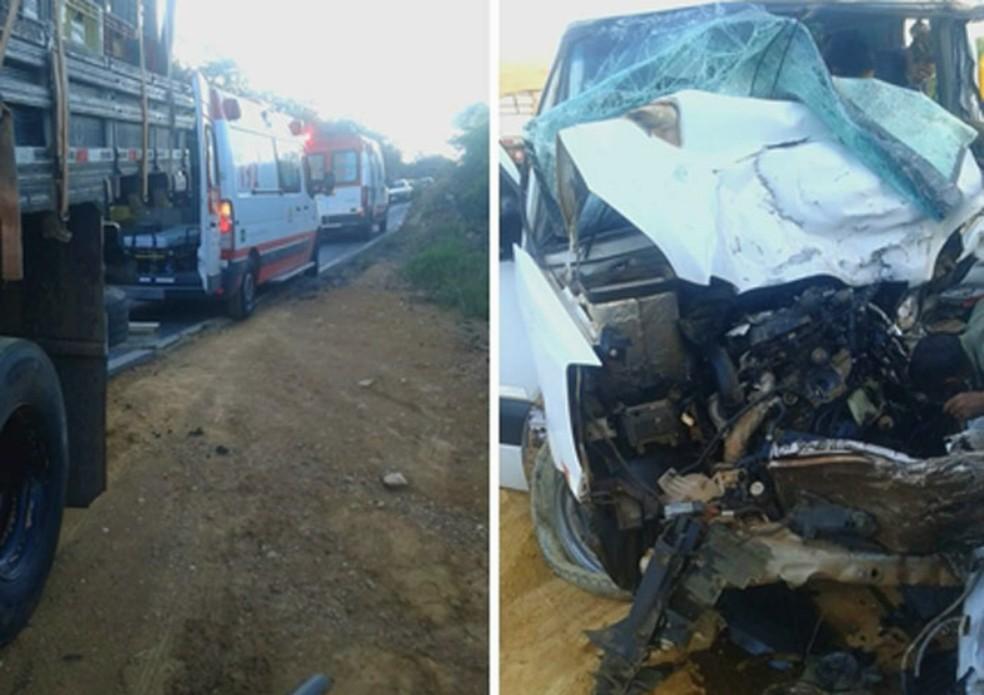 Acidente deixou oito feridos — Foto: Lay Amorim/Achei Sudoeste
