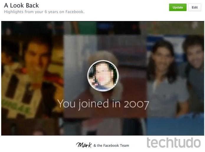 Look Back (Foto: Reprodução/Rodrigo Bastos)