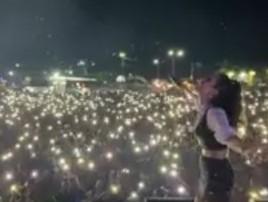 Cantora faz show para multidão aglomerada em cidade no Pará  (Reprodução/ Instagram)