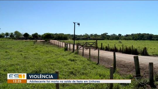 Adolescente é morto a tiros após sair de festa em Linhares, ES