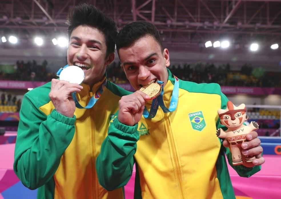 Caio Souza e Arthur Nory terão mais uma chance de medalha nesta quarta-feira — Foto: Ricardo Bufolin / Panamerica Press / CBG