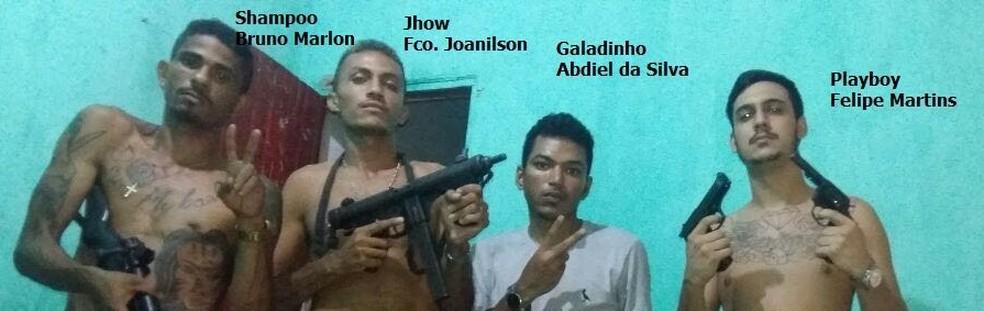 Dos cinco apontados como autores da chacina, quatro estão presos — Foto: Divulgação/Polícia Civil