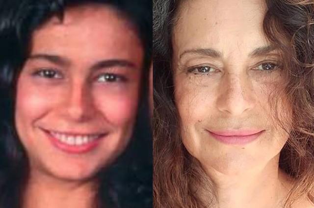 Giovanna Gold em 'Pantanal' e atualmente (Foto: Divulgação - Reprodução/Instagram)