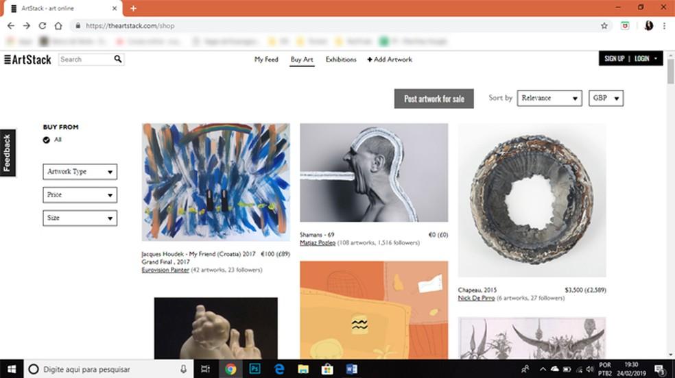 Descubra novos artistas e compartilhe suas obras de arte com o mundo. — Foto: Reprodução/Gabrielle Ferreira