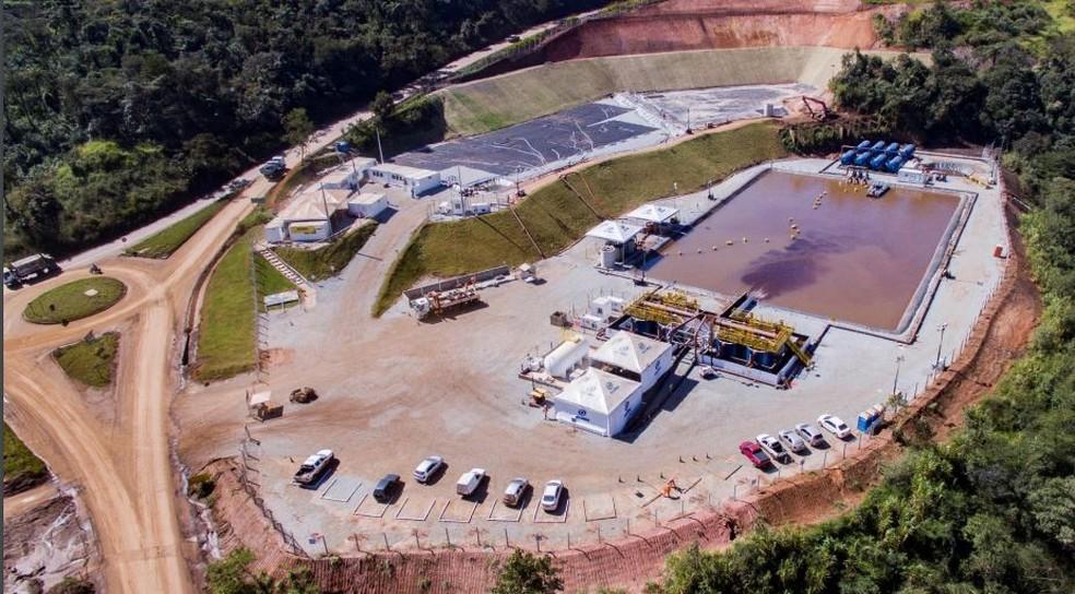 Conclusão da estação de tratamento de água do córrego ferro-carvão em Brumadinho, MG — Foto: Divulgação/Vale