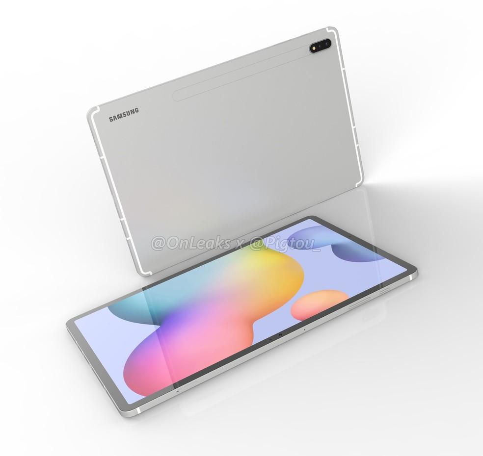 Novo Galaxy Tab S7 pode vir com câmera traseira tripla — Foto: Reprodução/OnLeaks