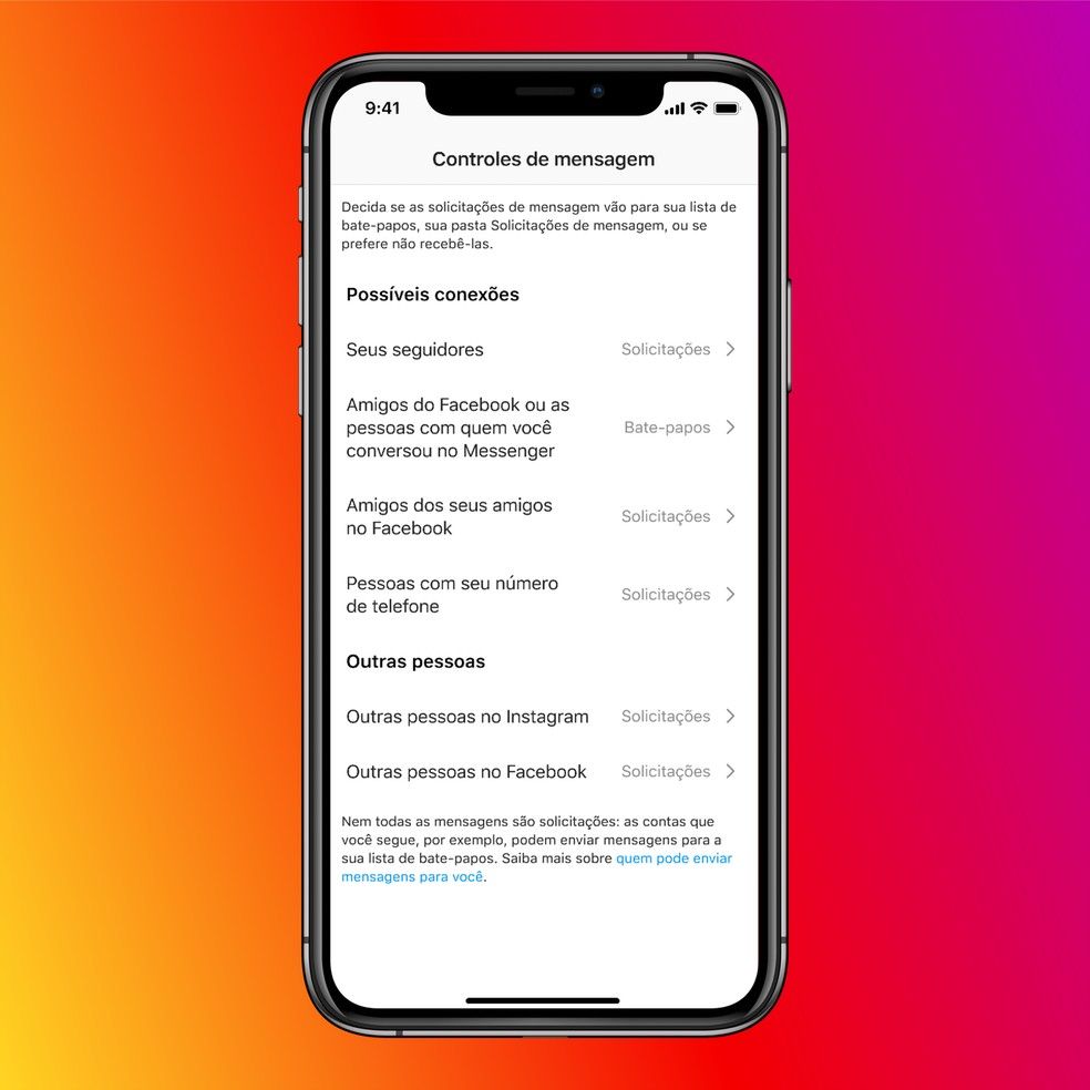 Usuários poderão optar pela integração nas opções de privacidade. — Foto: Divulgação/Facebook