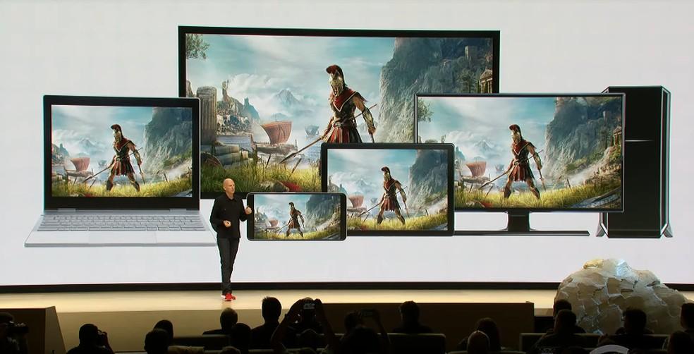 Stadia promete streaming de jogos famosos — Foto: Reprodução/Google