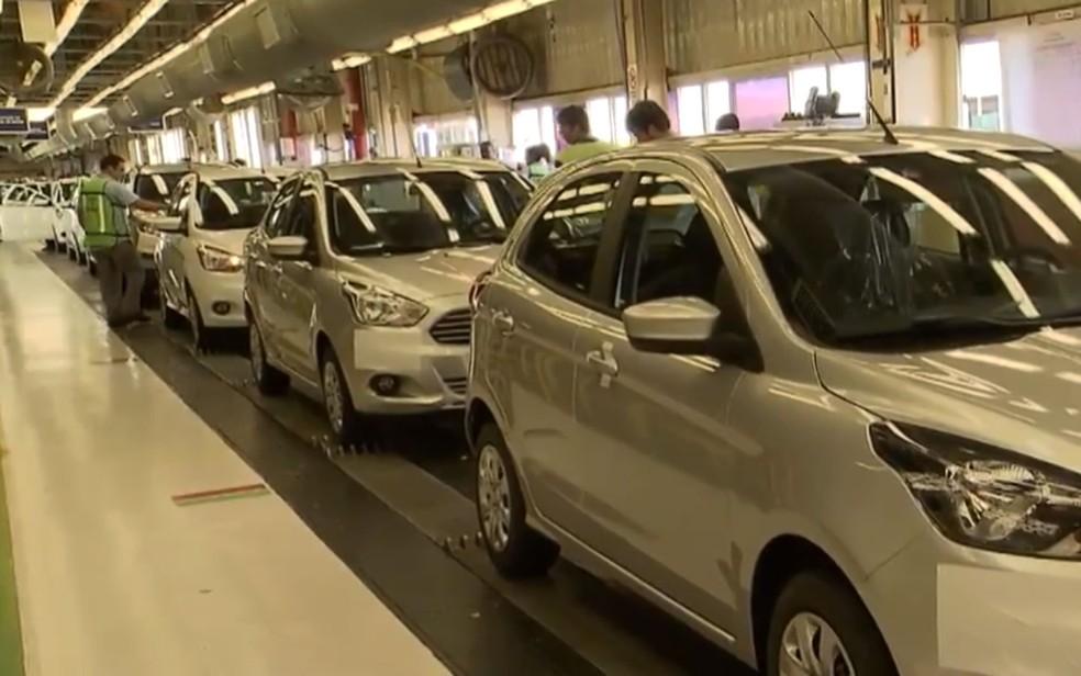 Fábrica da Ford na Bahia — Foto: Reprodução/TV Bahia