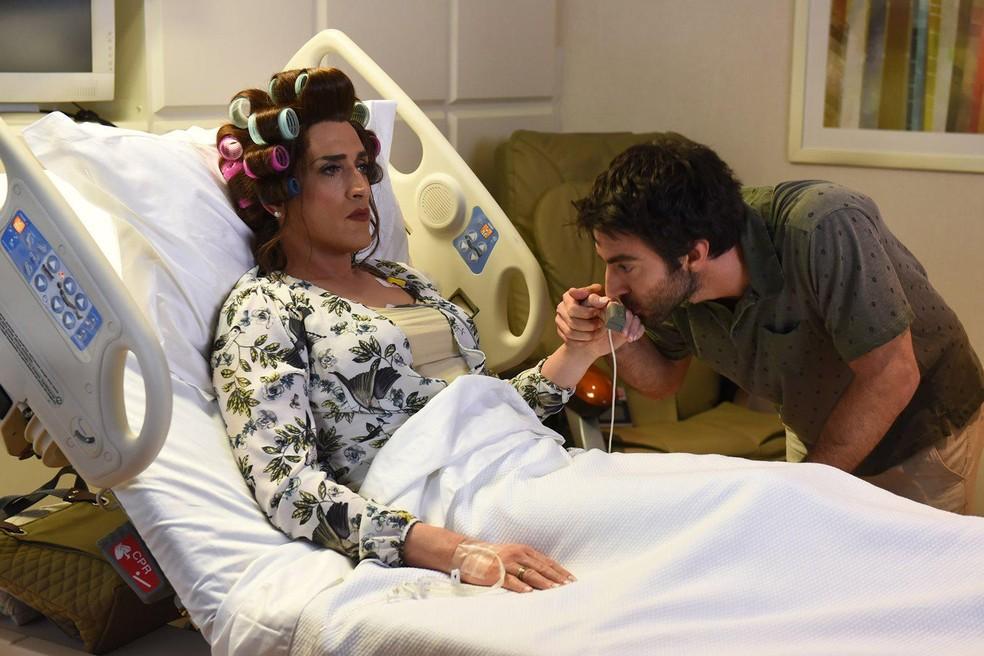 Paulo Gustavo e Rodrigo Pandolfo em 'Minha mãe é uma peça 3' — Foto: Divulgação