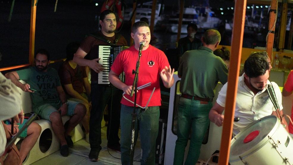 Forró no Potengi leva público para passeio sob a lua no rio Potengi, em Natal (Foto: Divulgação)