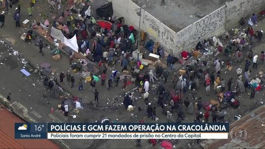 Polícias Civil, Militar e Guarda Civil Metropolitana fazem operação na Cracolândia