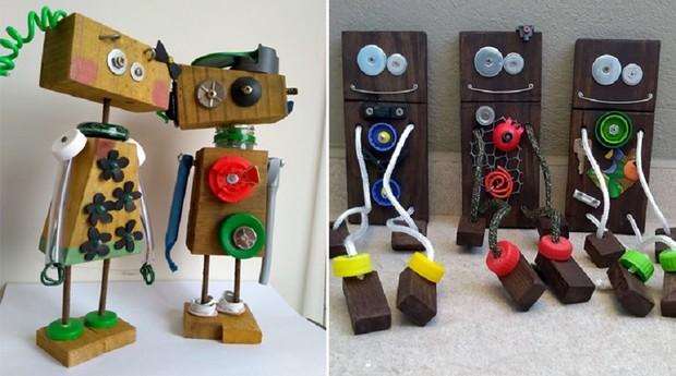 Com seus robôs reciclados, Mônica Turato quer conscientizar crianças e pais sobre sustentabilidade (Foto: Reprodução)