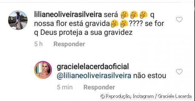 Graciele Lacerda nega gravidez (Foto: Reprodução / Instagram)