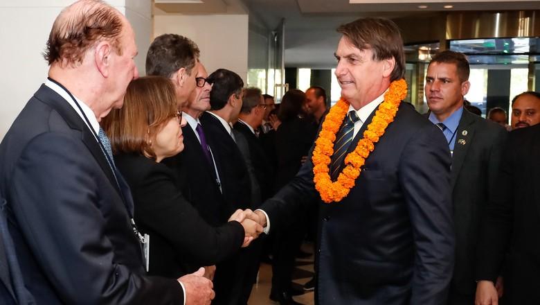 Bolsonaro na índia (Foto: Alan Santos/PR/Divulgação)