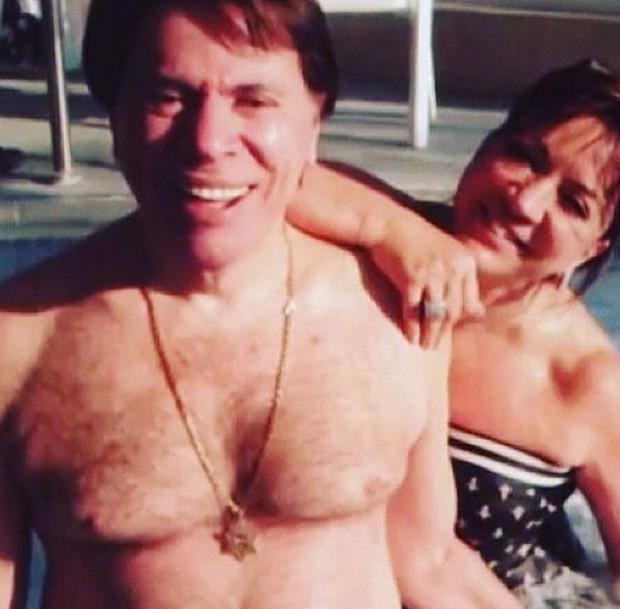 Silvio Santos e Iris Abravanel (Foto: Reprodução/Instagram)